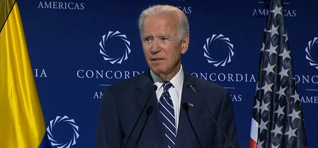Joe Biden in the Concordia America's Summit