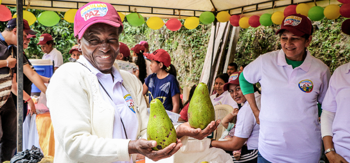 Rural farmers markets in Colombia provide food security